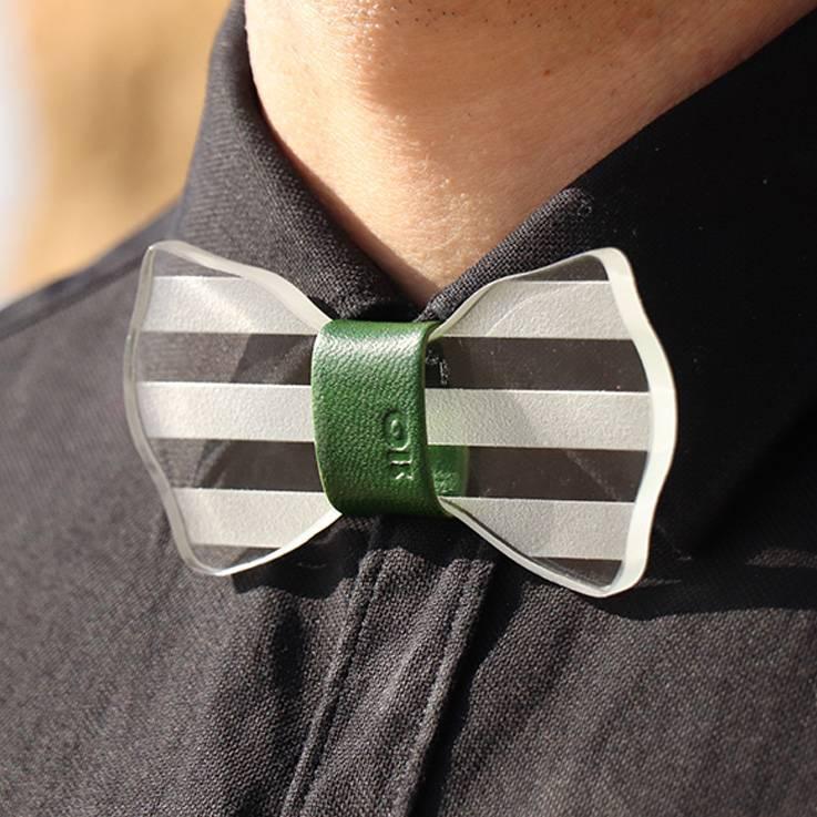 Pajarita Stripes para camisa oscura
